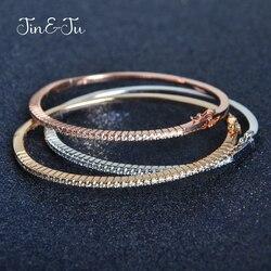 Jin&Ju Fashion Style C Colorful Bangle Nice Gifts Jewelry With Gold Plating Rose Gold Bracelet Bangle