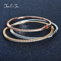 Jin&Ju Fashion Style C Colorful Bangle Nice Gifts Jewelry With Gold Plating Rose Gold Bracelet Bangle