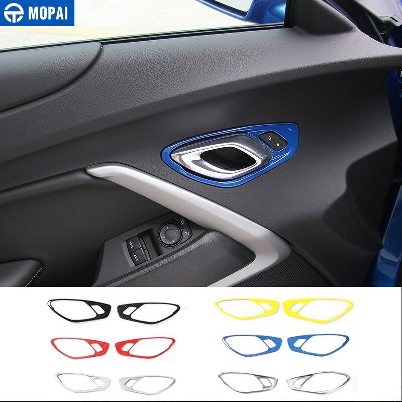 MOPAI ABS Car Interior Door Handle Decoration Cover Trim Stickers for Chevrolet Camaro 2017 Up Car