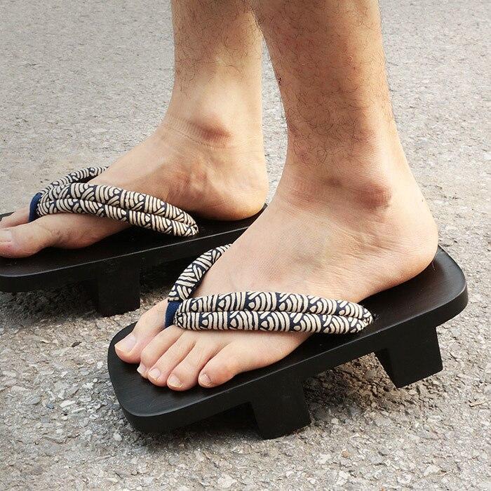 Летние сандалии японские гэта деревянные Сабо тапочки Косплэй мужские скамейке гета SandalsFlat каблук Косплэй вьетнамки размер 45-50