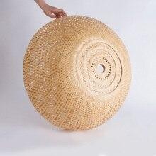 38 см/45 см/60 см бамбуковый Плетеный ротанговый абажур ручной работы двойной слой бамбуковый купол абажур Азиатский деревенский японский дизайн лампы