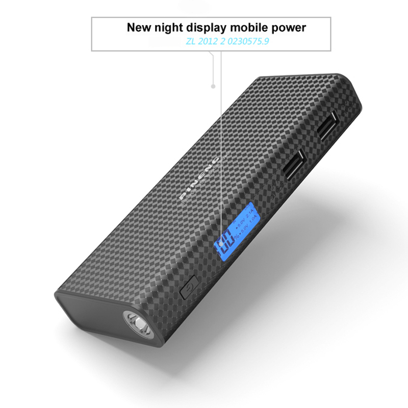 Pineng Power Bank 10000mah LCD External Battery Portable Mobile Fast Charger Dual USB Powerbank for iPhone 6 Samsung Tablet 12