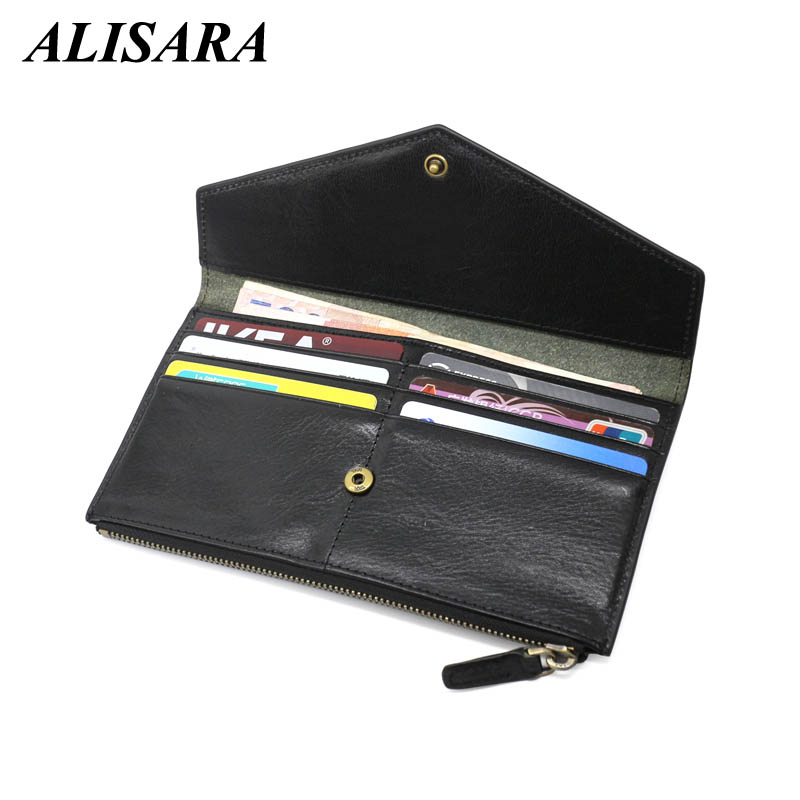 Men wallet luxury brand phone wallets genuine leather carteira masculina long purses male change purse Bifold Clutch Bag