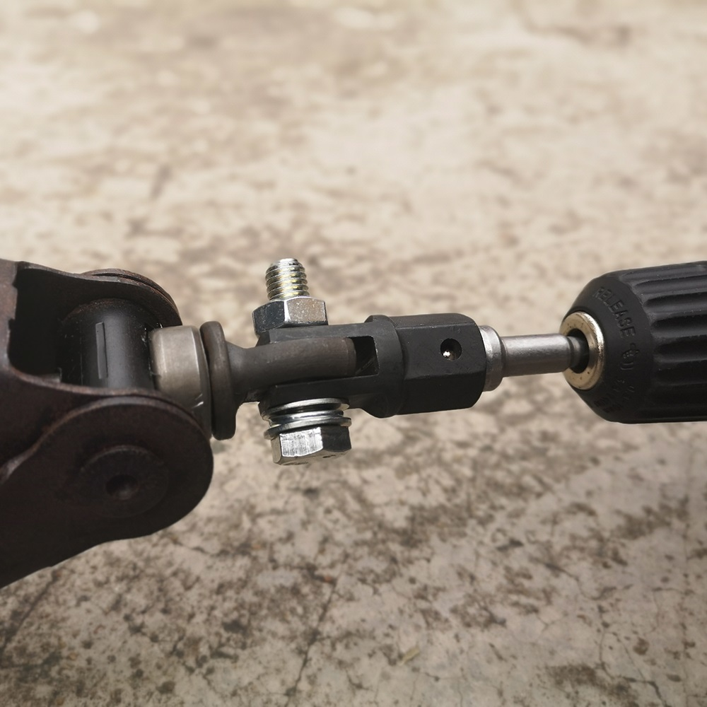Scissor Jack Adapter With 1/2 Inch Chrome Vanadium Steel Socket Adapter Drive Impact Wrench