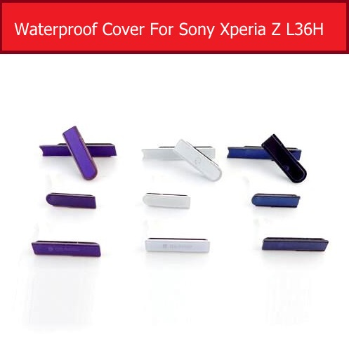 Micro SD & Earpone Jack Port& SIM Card Port Slot & USB Cover For Sony Xperia Z L36h C6602 C6603 Waterproof Dust Plug Replacement