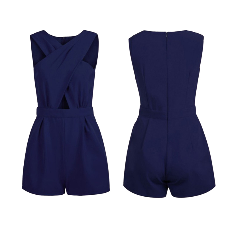Fashion Women Summer Bandage Romper Jumpersuits Slim Sleeveless Bodycon Party Jumpsuit Short Pants 2018 Female Clothing