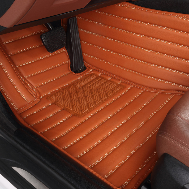 no odor special full surrounded car floor mats waterproof carpets non slip easy clean rugs for Fortuner Highlander 7seats