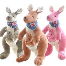 RYRY 12.6 Inch Soft Plush Toys Australia Kangaroo Carrying A Baby Stuffed Plush Animals Kangaroo Mother&Son Collection Kids Toys