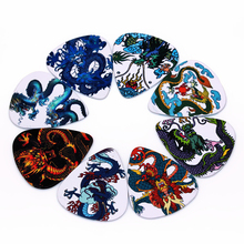 SOACH 50pcs/0.46/0.71/1.0mm Bass Guitar picks Plucked Instrument Accessories Guitar/Acoustic guitarra/ukulele Parts Dragon style