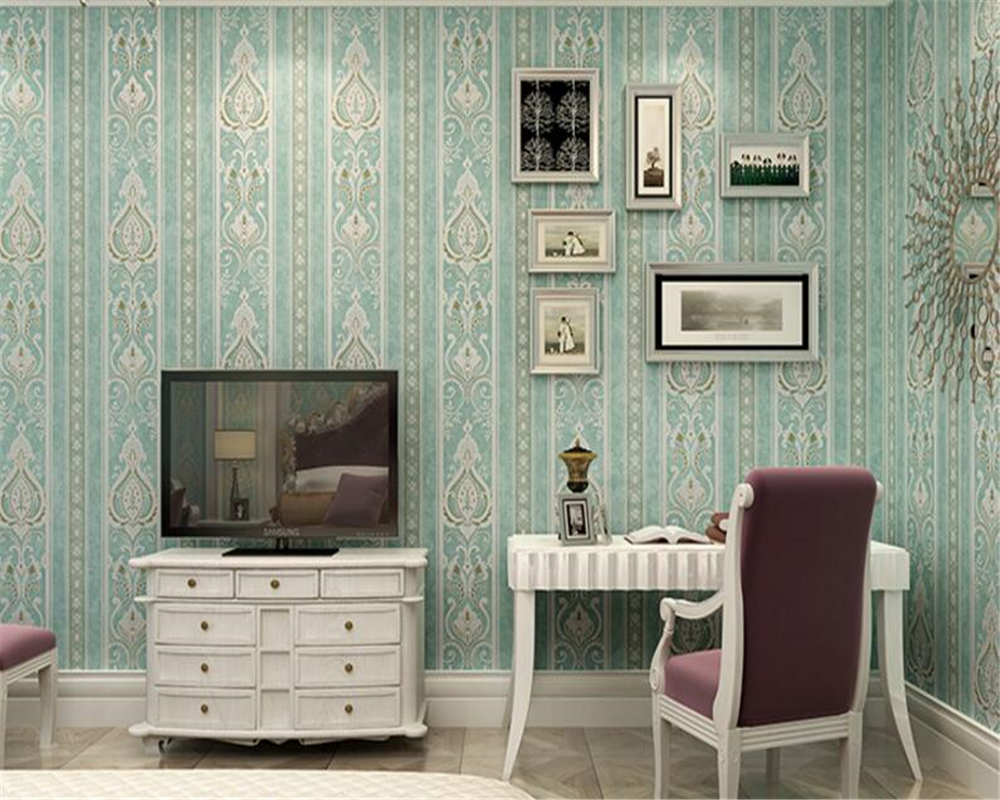 study simple background living modern bedroom vertical 3d wallpapers woven striped television non