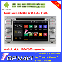 Top RK3188 Quad Core Android 4.4 Car DVD Player For Transit/Galaxy/Focus/Mondeo/Fiesta/C-max/S-max/Kuga/Connector