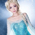 300g Popular Cartoon Girl Hair Wigs Children Adult Cosplay Wigs Elsa / Anna Princess White Fluffy Long Hair Synthetic Braid Wigs
