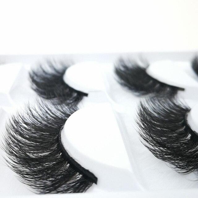 9e5d7602830 100% Siberian Mink Fur Makeup Wispy Long Cross Thick Reusable Fake Eyelashes  3D luxurious False Eyelashes 5 Pairs/pack