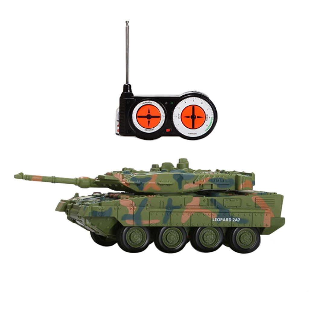 1/144 Scale Remote Radio Control RC Tank Toy, German Leopard 2 A7 Army Model RC Tank Electric Vehicle Home Collectibles