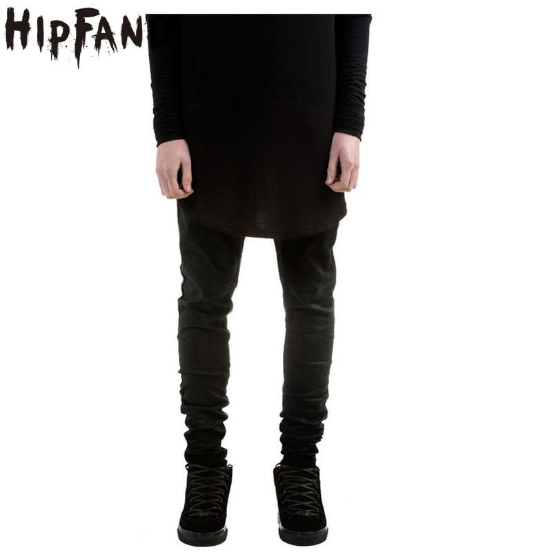 HIPFANDI  Famous Designer Men Brand Denim Jeans Skinny Jeans High Street Slim Fit Straight Jeans Men Black Solid  Biker Jeans new plc programmable logic controller cj1 m download cable cs1w cn226