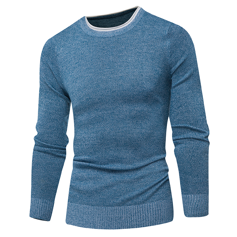 Men  Male Brand Casual Sweater Men Solid Color Comfortable Mens Christmas Sweater Round Neck Slim Fit Pull Homme