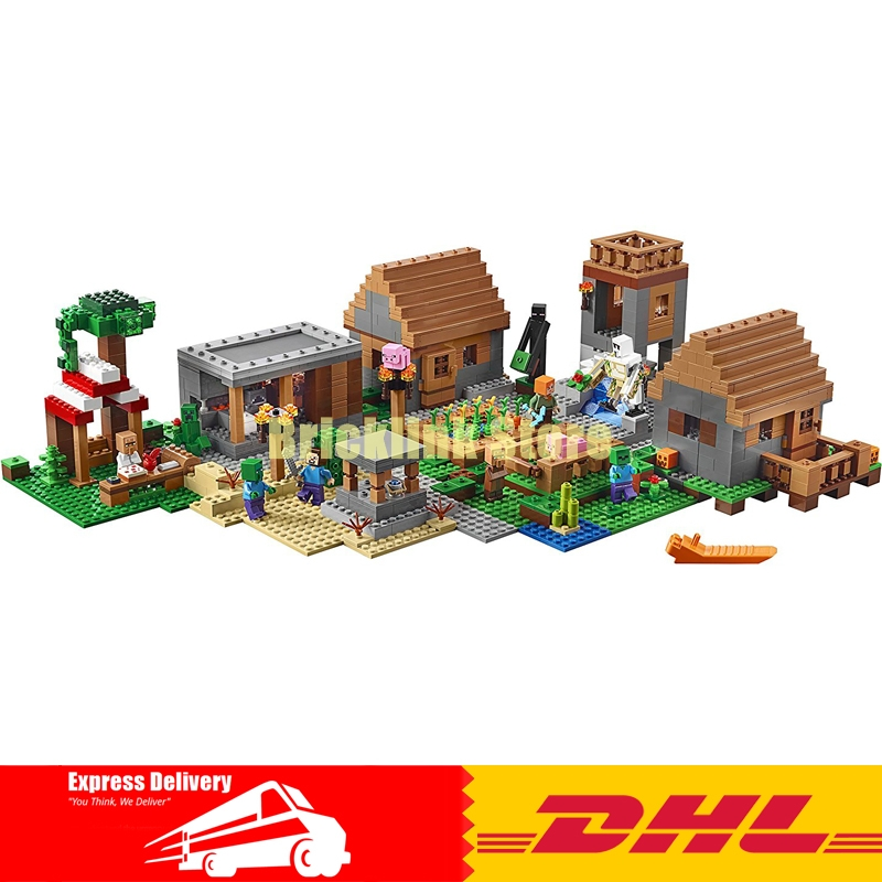 Lepin 18010 1106pcs My World Village Marketplace Adventures Steve Building Block Compatible 21128 Brick Toy lepin 18010 my world 1106pcs compatible building block my village bricks diy enlighten brinquedos birthday gift toys kids 21128