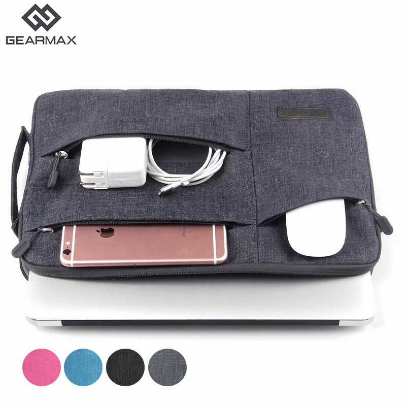 Gearmax Waterproof Nylon Laptop Bag Case For MacBook Pro 13 15 Air 11 12 13.3 14 15.6 Sleeve For Xiaomi Notebook Bag Men Women