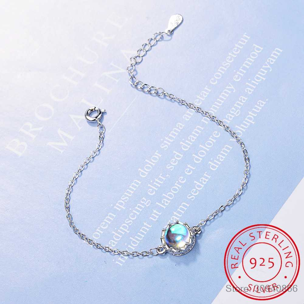 Aurora Ladies' Bracelets s925 Silver Gradient Crystal Magical Bracelet Female Simple Elegant Dainty Friendship Jewelry