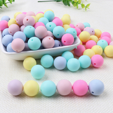 TYRY.HU 100pcs/lot Silicone Beads Baby Teether Teething For Necklace 15mm  BPA Free