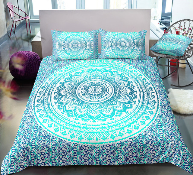 Fanaijia 3d bedding set queen size Mandala Duvet Cover Bohemian Bed Set Bedclothes  bed sets