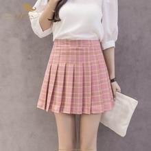 34a62ee8d SISHION Women Pleated Skirt Harajuku Tennis Plaid Skirts Mini Cute School  Uniforms Ladies Skater Short Skirt