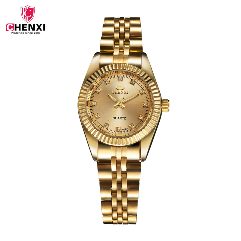 Fashion Classic Women Watch Luxury Crystal Full gold Stainless Steel Women's Watches Ladies Casual Quartz Wristwatch Lovers 30 halei lovers watches crystal inlaid full steel quartz watch women men simple casual wristwatches silver clock calendar relojes