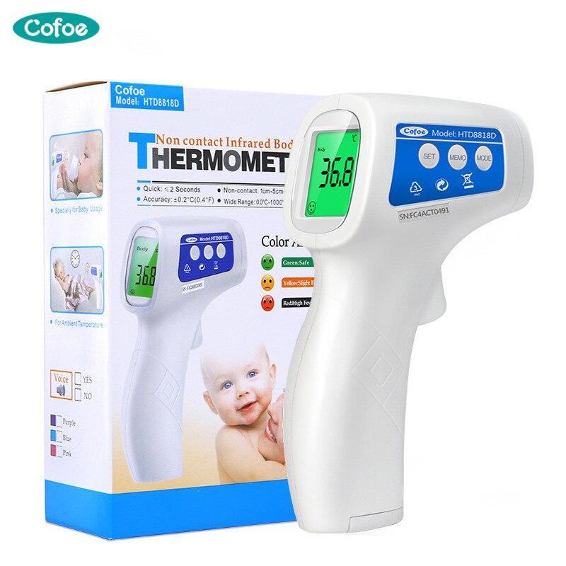 Cofoe frente infrarrojo termómetro Digital electrónica Termometro arma portátil sin contacto de cuerpo de bebé medida temperatura dispositivo