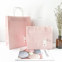 10Pcs Lot 21 25 12cm Portable Kraft Paper Gift Bags With Handles Birthday Party Craft Gift