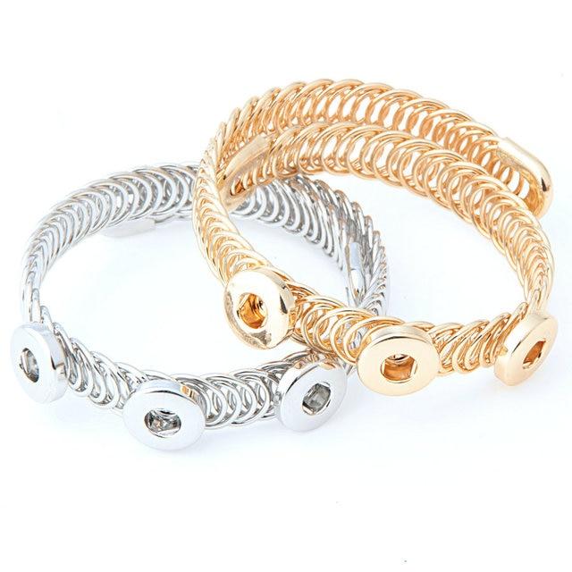 Smb12 1 Arm Bracelets For Women Opening Bracelet Large Gold Snap Ons