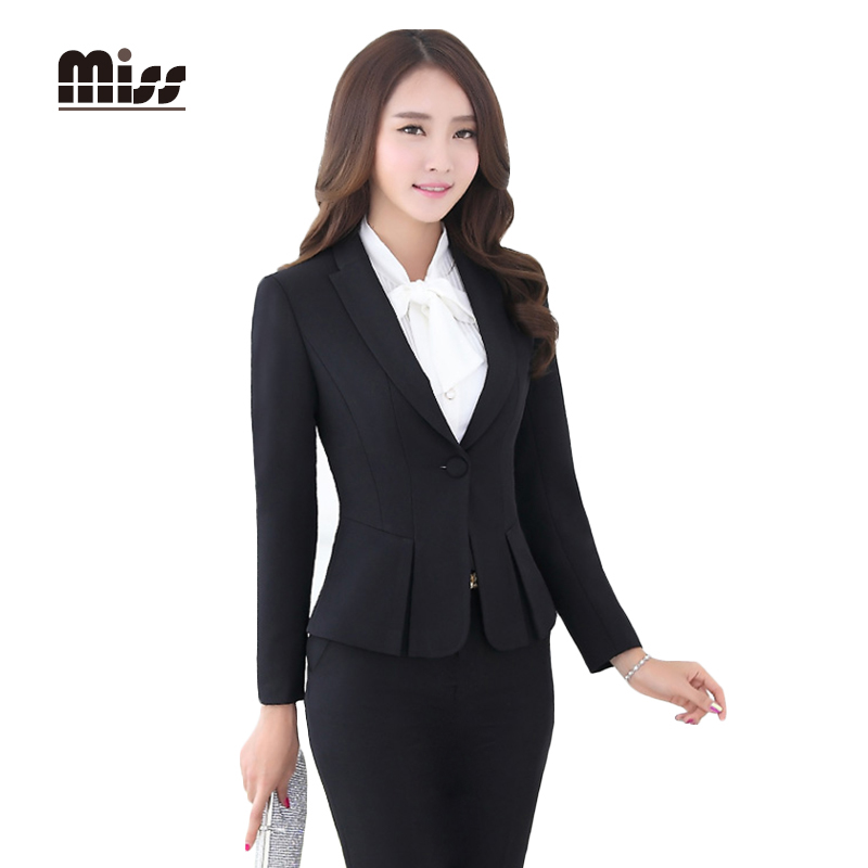 Miss 2016 Spring Women Formal Skirt Suits Work Las Office