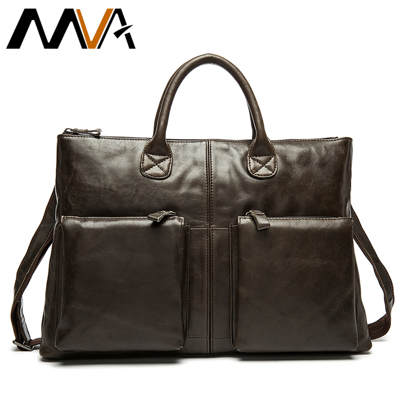 MVA Male Briefcase Genuine Leather Handbag Business men bags for document Messenger bag men shoulder leather laptop briefcase mva genuine leather men bags new man briefcase laptop handbag messenger bag men s business bags male crossbody handbags