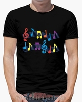 Spring Summer Berserk T Shirt Men Black Musical Notes Short Sleeves Character Cotton Hip Hop Mens