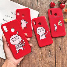 Funny Cartoon Lovers Phone Case For Huawei Mate 10 20 lite P20 pro P8 P9 lite 2017 Y5 Y6 Y7 2018 P Smart Middle Finger TPU Cover(China)
