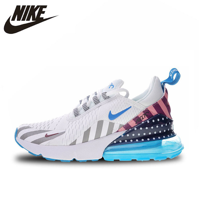Nike Parra X Nike Air Max 270 Arco Iris Parque de Atracciones zapatos para correr para hombres y mujeres AH6789-019 36-44