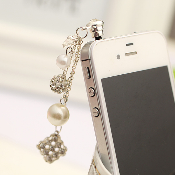 Fashion style Pendant Earphone Dust Plug Dustproof Plug Caps Cell Phone Accessories for all 3.5 mm Earphone Dust Plug