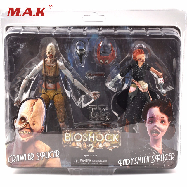 2 Figures 7 Inches Movable Bioshock Ladysmith and Crawler Action Figures Models Dolls Collections