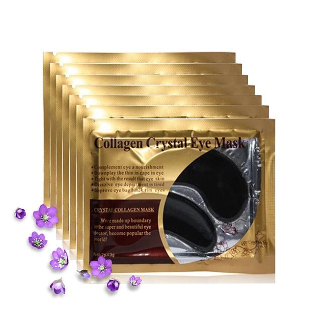 5pack=10pcs Black Eye Mask Crystal Gel Black Mask for the Eyes Dark Circles Remove Antipufiness Ageless Moisturizing Eye Patch