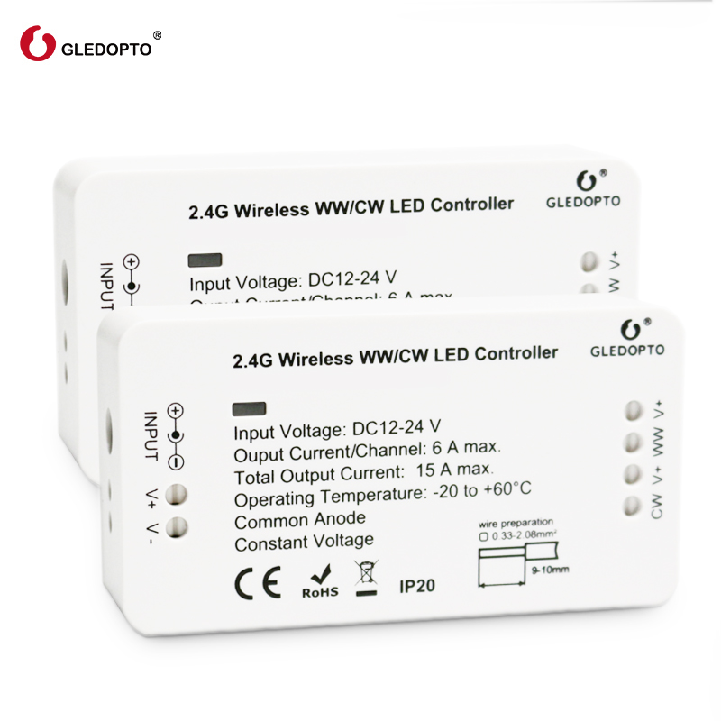 Image 2 - GLEDOPTO ZIGBEE bridge Led Controller ww/cw dimmer strip Controller DC12/24V  zll standard led-in RGB Controlers from Lights & Lighting
