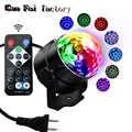 IR Fernbedienung LED Kristall Magic Ball 3W Mini RGB Bühne Beleuchtung Wirkung Lampe Birne Party Disco