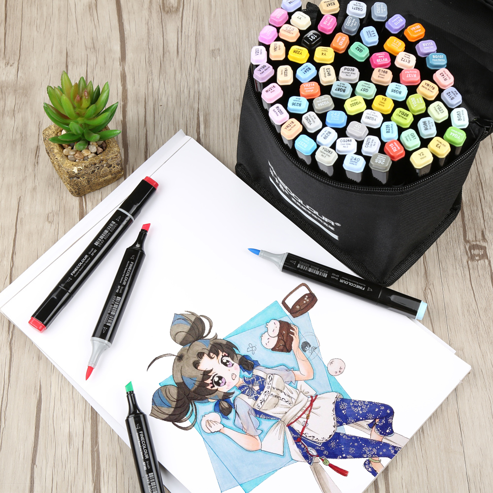 Art Markers Brush Pen Markers Artist Double Headed Sketch Marker Set 36 48 60 72 Colors set Manga Marker For Drawing Pens Gifts w110148 30 40 colors artist double headed manga brush markers alcohol sketch marker marker for design and artists