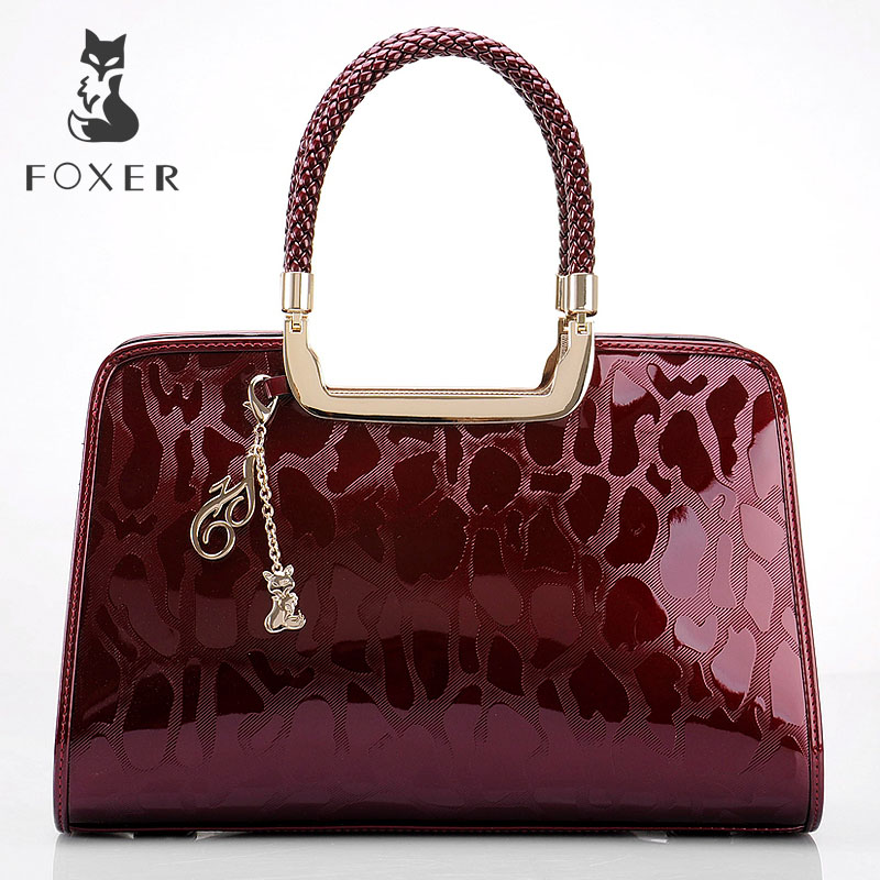 FOXER Brand Fashion Women Handbag Leather Luxury Shoulder Bag All-purpose Purse Large Capacity Tote Bag мягкие игрушки maxitoys собачка зиночка в платье