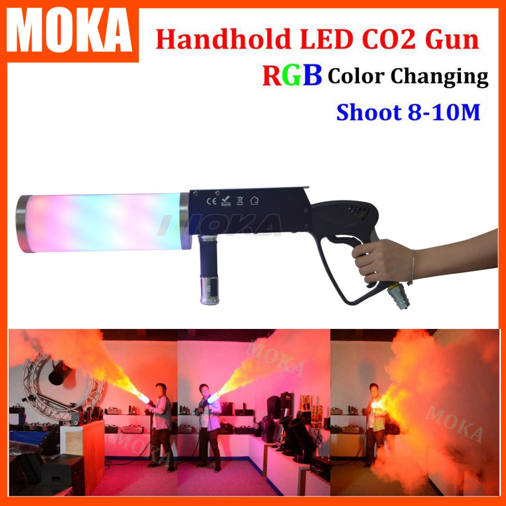Stage Lighting Effect Lights & Lighting 8 Pcs/lot 2016 New Co2 Gun Led Fog Shooter Cannon Dj Co2 Jet Machine With Led Red Blue Green Color Change Cryo Led Guns Curing Cough And Facilitating Expectoration And Relieving Hoarseness