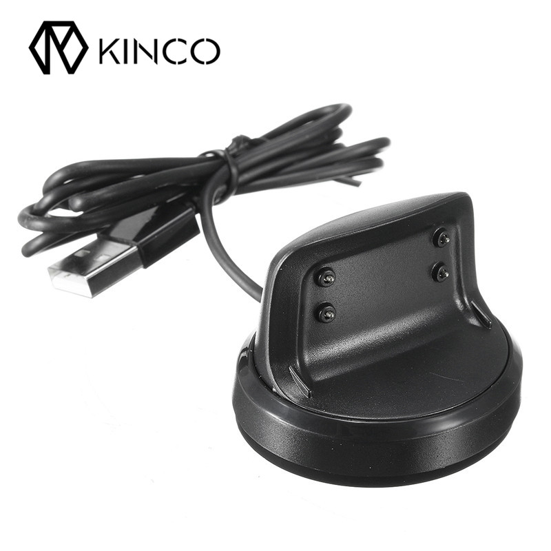 KINCO Black Smart Watches Chargers High Quality USB Charging Cradle Dock Charger For Samsung Gear Fit 2 Smart Watch SM-R360 kinco black smart watches chargers high quality usb charging cradle dock charger for samsung gear fit 2 smart watch sm r360