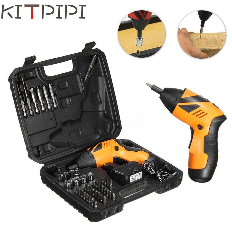 4.8V 45in1 Power Tool Rechargeable Cordless Electric Screwdriver Drill Kit EU Plug/US PLUG