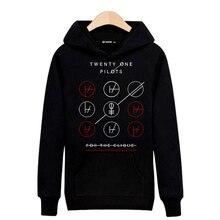 Rock Band Twenty One Piloten Baumwolle Harajuku Sweatshirt Männer xxl in Straße Tragen Mens Hoodies und Sweatshirts 2016 Schwarz/grau