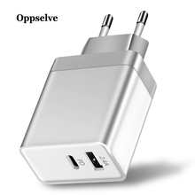 Oppselve 30W Type C PD Fast USB Charger For iPhone X 8 XS XR Quick 5V 2.4A Phone Samsung Xiaomi