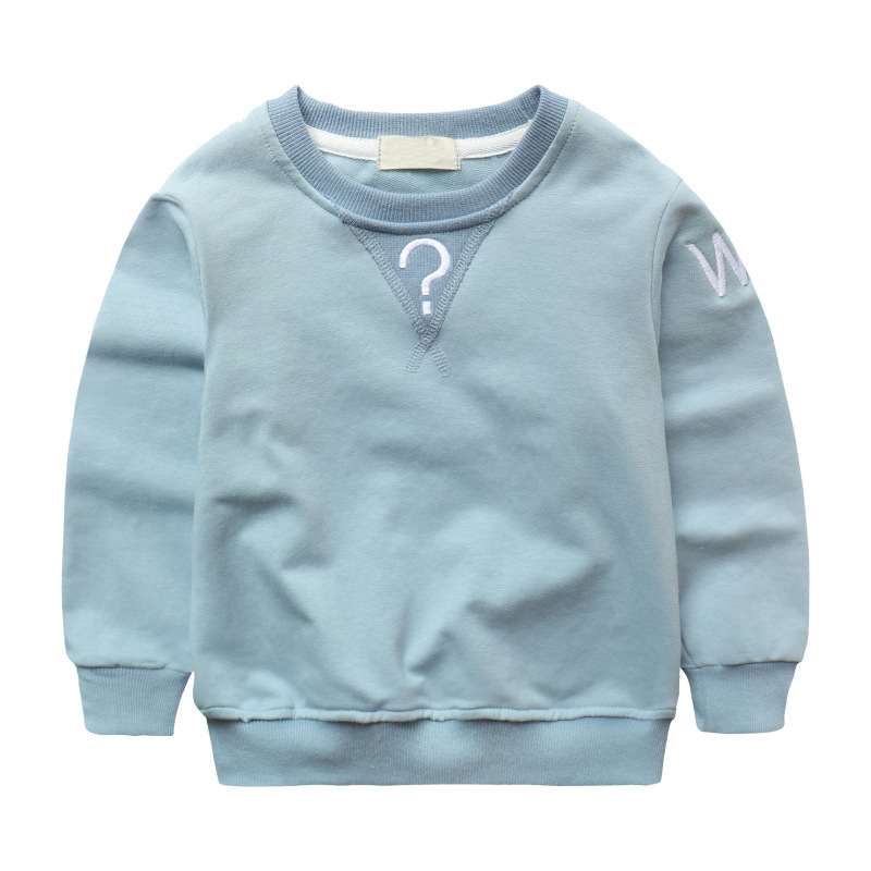 Autumn Baby Boys Sweatshirt Girls Hoodies Candy Color Kids Letter T Shirt Cotton Long Sleeve Tops Outwear Children Clothes