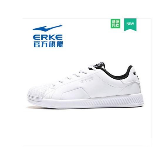 Ерке женская обувь модные спортивные туфли оболочки голову скейтборд обувь; белые туфли