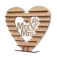 HOT SALE Mr Mrs Chocolate Heart Tree Wedding Display Stand Centrepiece